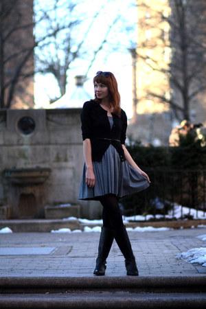 black calvin klein boots - gray Jean Paul Gaultier Femme dress - black Urban Out
