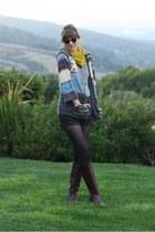 periwinkle vintage sweater - crimson vintage boots