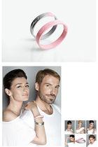 silver Ducas for Estee Lauder bracelet - pink Ducas for Estee Lauder bracelet