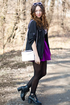 magenta wholesale skirt - black Papilion boots - black Orsay jacket