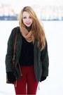 Brown-fleq-shoes-army-green-sheinside-jacket-black-romwe-sweater