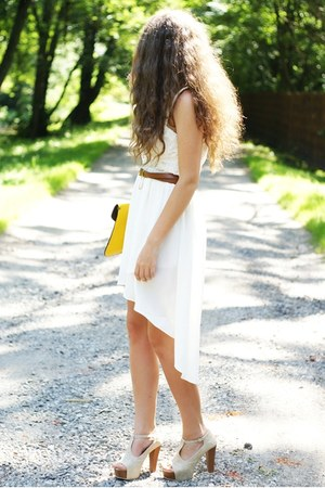 white asian icandy skirt - beige VJ Style shoes - yellow VJ Style bag
