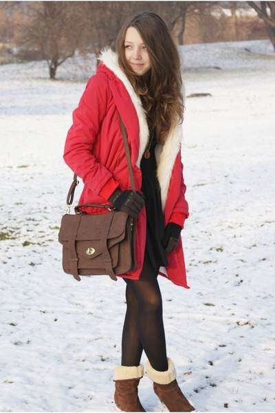 red Wholesale-Dress coat - dark brown US Polo boots