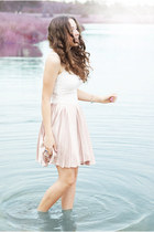 light pink Motel Rocks dress - light blue Libellule bracelet