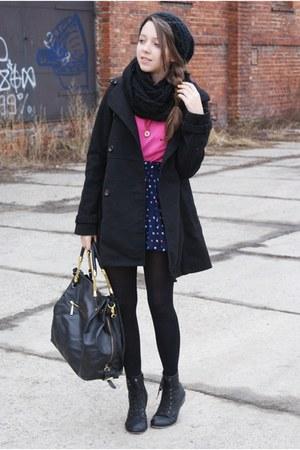 black Czas na buty boots - black H&M coat - black Iloko scarf