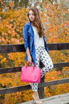 blue Zlz jacket - light pink Wholesale7 shoes - white Zara sweater