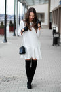 Black-deezee-boots-white-yuliya-babich-dress-light-pink-sheinside-coat