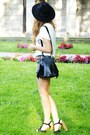 Black-czas-na-buty-shoes-black-oasap-hat-black-romwe-bag