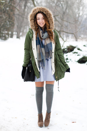 heather gray PresKA dress - brown Czas na buty boots