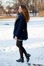 Black-persunmall-shoes-charcoal-gray-chicwish-dress-navy-chicwish-coat