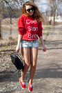 Red-keds-shoes-black-supergalanteria-bag-light-blue-h-m-shorts
