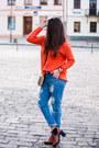 Tawny-deezee-boots-blue-tb-dress-jeans-carrot-orange-sammydress-sweater