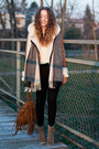 Light-brown-zara-boots-dark-brown-bershka-coat-cream-romwe-sweater