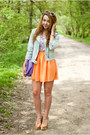 Violet-oasap-blouse-camel-czasnabuty-shoes-light-blue-sinsay-jacket