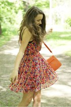 carrot orange Bqueen dress - camel Wholesale-Dress ring