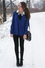 Black-c-a-jacket-navy-sh-sweater-black-h-m-leggings-black-romwe-bag