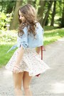 White-h-m-skirt-beige-czas-na-buty-shoes-light-blue-sheinside-shirt