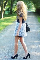 navy Dahlia dress - black Swiat butow impreSS shoes - black romwe bag
