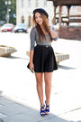 Navy-stylish-plus-shoes-gray-romwe-hat-black-allegro-sunglasses