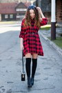 Black-chicwish-boots-ruby-red-sheinside-dress-black-dressve-bag