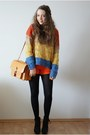 Mustard-oasap-sweater-light-orange-romwe-bag-carrot-orange-next-shorts