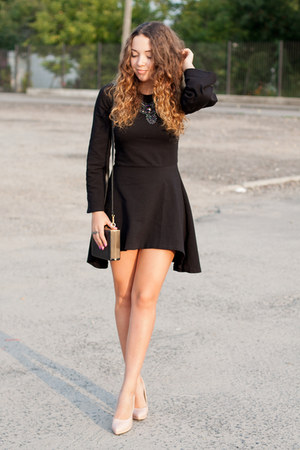 black nommo dress - light pink wholesale shoes - black Choies bag