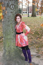 vintage from Einsteins Attic dress - charolette russe boots