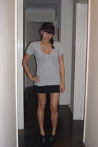 supre t-shirt - cotton on skirt - Ninewest shoes - cheapos glasses