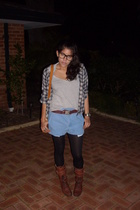 supre t-shirt - vintage jacket - vintage shorts - vintage ebay shoes
