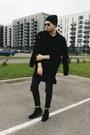 Black-h-m-boots-black-tally-weijl-jeans-black-sinsay-hat-black-zara-jacket