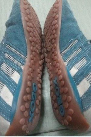 blue mesh suede Geox sneakers