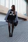 Heather-gray-sheinside-coat-black-backpack-chicwish-bag