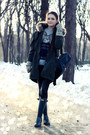 Charcoal-gray-rain-hunter-boots-forest-green-parka-asos-coat