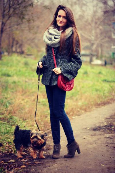 Accessorize scarf - ostin coat - asos jeans - Accessorize bag