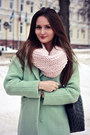 Heather-gray-suede-yoox-boots-light-blue-mint-sheinside-coat