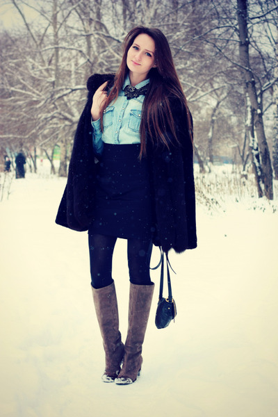 reserved shirt - Yoox boots - Marc by Marc Jacobs bag - Zara necklace