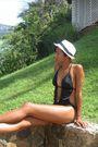 White-hat-black-target-swimwear-black