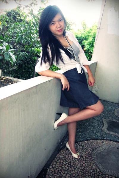 Forever 21 skirt - next heels - new look necklace - Zara top