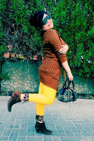 gold STAR By Julien Macdonald bag - dark brown Nine West boots