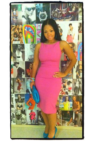 bubble gum bodycon dress Maria Bianca Nero dress