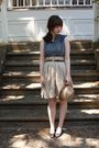 Blue-anthropologie-dress-brown-thrifted-belt-beige-thrifted-skirt-blue-thr