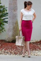 Express skirt - bag - Express blouse - Ebay heels - Forever21 bracelet