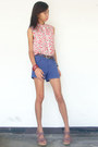 Navy-summer-salt-shorts-red-korea-top
