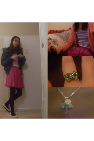 supre skirt - Glassons jacket - Glassons top - pink flats garage flats