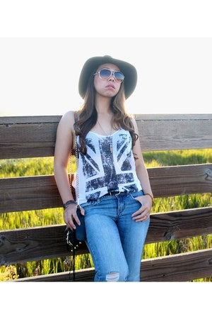 Forever 21 jeans - Forever 21 hat - Rebecca Minkoff bag - Forever 21 accessories