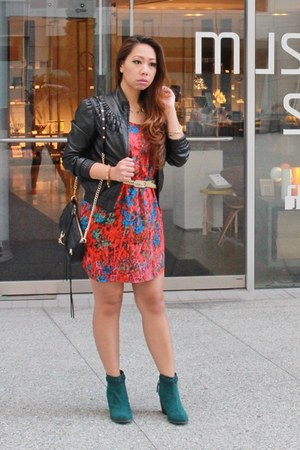 house of harlow necklace - ONeill boots - Nordstrom Rack dress