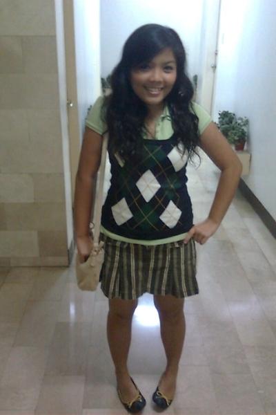 Aeropostale blouse - Calliope vest - Zara Trf skirt - Schu shoes - liz claiborne