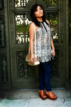 liz claiborne bag - Charlotte Russe blouse - Forever21 jeans - Aldo shoes