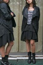 Rick Owens jacket - Urban Outfitters x geren ford top - random brand skirt - Gue