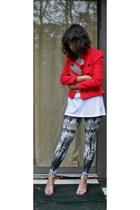 31 phillip lim jacket - Gap t-shirt - Forever21 leggings - random brand from Nor